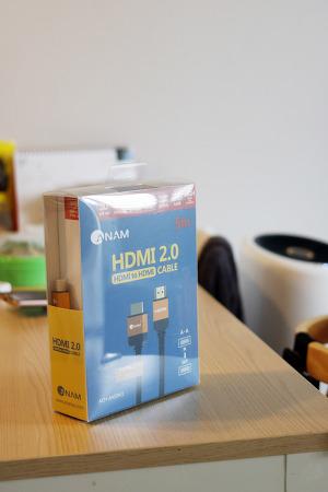 아남 HDMI2.0 케이블 5M 거리에서도 사용 가능한 튼튼한 내구성