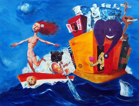 Painting : Imagination ' Lost Romance ' . 2008 - 2015
