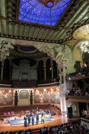 Barcelona, 카탈루냐 음악당 공연과 구엘공원 투어