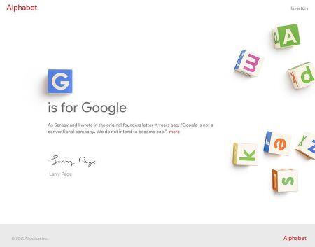 Google, 모회사 Alphabet 설립 발표