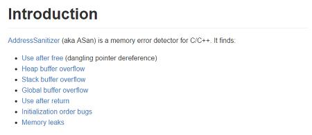 메모리 버그 디텍터 - ASAN (AddressSanitizer) 사용법