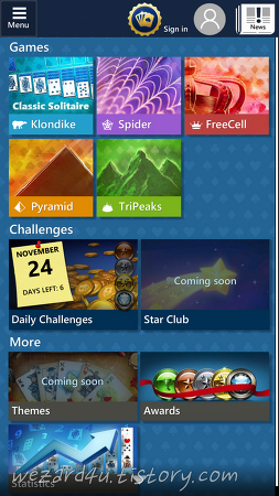 Microsoft Solitaire Collection 안드로이드,iOS 버전 공개