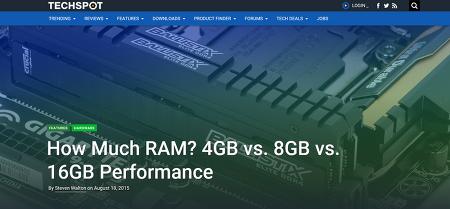 윈도우 10, 최적의 메모리 용량은? 4GB vs 8GB vs 16GB 테스트