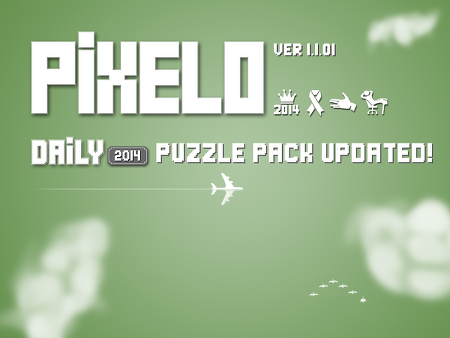 [Pixelo news] 2014 daily puzzle pack has been updated!