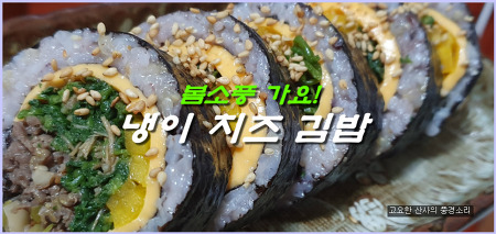 봄 소풍 도시락! 치즈 냉이 김밥