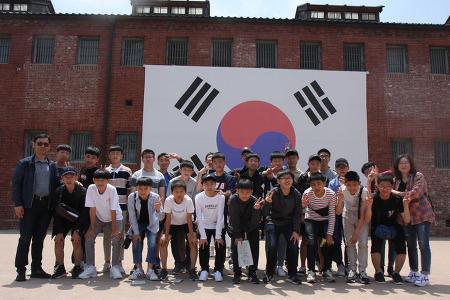 2학년 수학여행 단체 사진