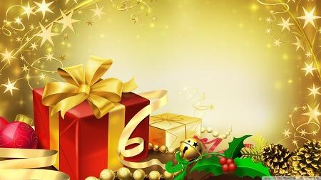 배경화면 다운로드 The Presents Christmas HD Wallpaper 무료 배경 이미지