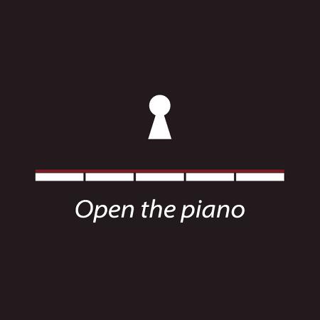 피아노 로고 디자인 Open the piano.