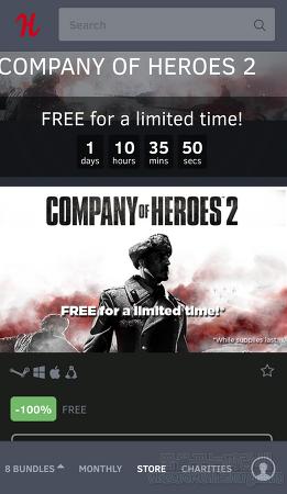 [험블 스토어]컴퍼니 오브 히어로즈 2(Company of Heroes 2) 무료 스팀키 배포중