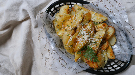 오븐에 구운 감자요리, 웨지감자 만들기