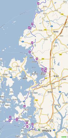 서해안 자전거 탐사 1일차 (8월 1일, 목포~영광 157km)