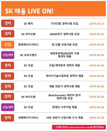 SK그룹 4월 4주차 채용 소식