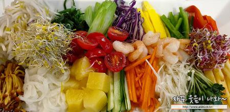 [잠실 롯데백화점 맛집] 반포식스 베트남 쌀국수, 만족! 월남쌈 세트 메뉴