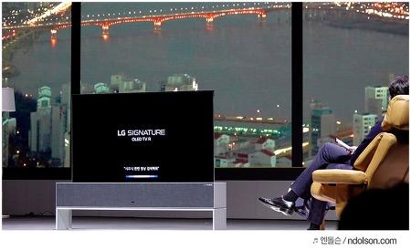 2019 LG 올레드 TV AI ThinQ 신제품 미디어데이, 직접본 LG 롤러블 TV