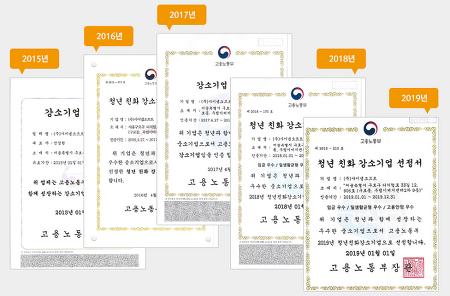 사이냅소프트 청년 친화 강소기업에 5년 연속 선정
