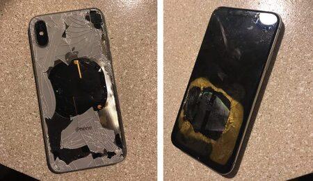 아이폰X iOS 12.1 업그레이드 후 폭발 주장