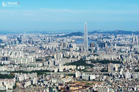 남한산성에서 바라본 서울의 아침풍경