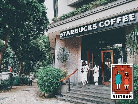 베트남 하노이 1호 스타벅스 지점에서 아메리카노 한잔하기