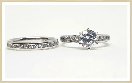 1캐럿다이아몬드 반지 생각보다 저렴하더라구요!