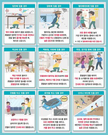 우리집 내진설계 간편조회 및 지진 발생시 행동요령