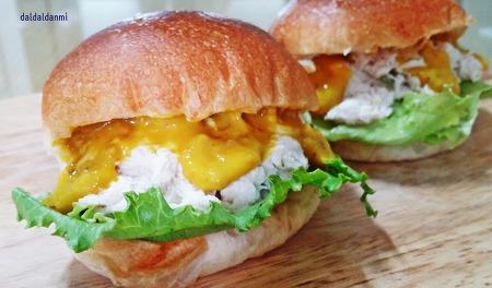 이렇게나 간단히, 닭안심 샌드위치