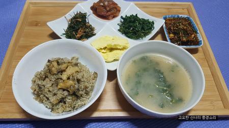 환절기 보양식, 달래장 전복밥