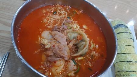 안양 : 충무김밥 - 떡만참 + 계란말이김밥
