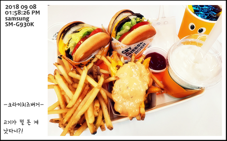 CRY CHEESE BURGER 크라이치즈버거 양재역점 - 크라이 치즈버거 + 크라이 더블 치즈버거 + 감자튀김 + 치즈감자튀김 + 음료수 + 쉐이크