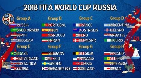 [오피셜] 2018 피파 러시아 월드컵 일정