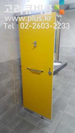 3연동 미닫이문, 더블 슬라이딩도어 장애인 화장실칸막이 BF 인증 큐비클_인천