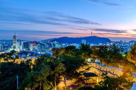 [서울풍경] 낙산공원에서 바라본 서울의 일몰과 야경