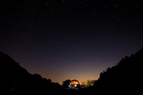 밤하늘 아래