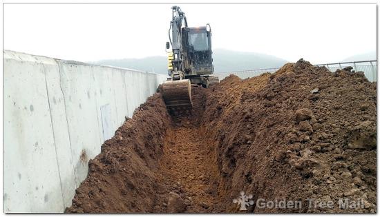 경기 연천 한탄강댐 상부 녹지 조경관수