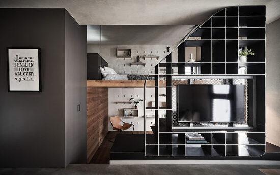 *협소아파트의 3개 구조별 활용-[ KC Design Studio ] Small Apartment Lead Up To A Loft Bedroom