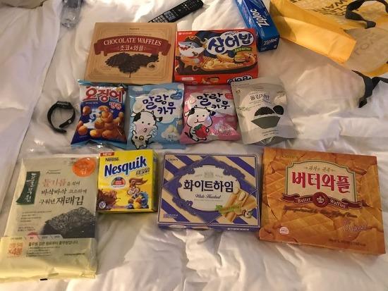 마트에서 고른 일본인에게 자주 선물하는 아이템