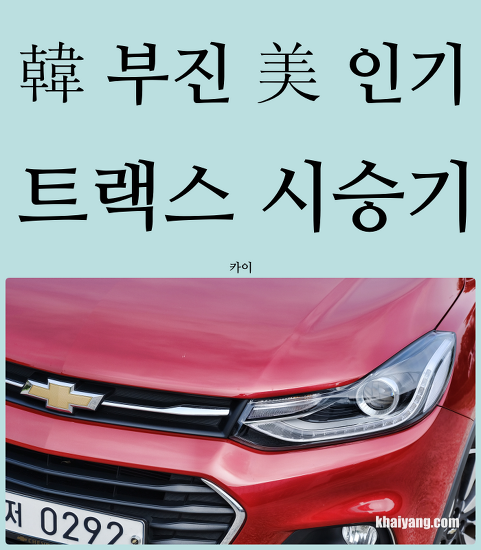한국 부진, 미국 잘나가? 쉐보레 트랙스 시승기