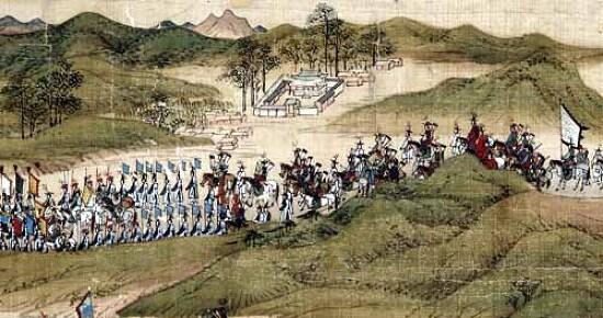 [옛그림]시흥환어행렬도에 그려진 의왕 사근행궁