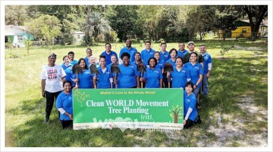 국제위러브유운동본부 클린월드운동-미국 게인스빌에서 진행된 나무 심기