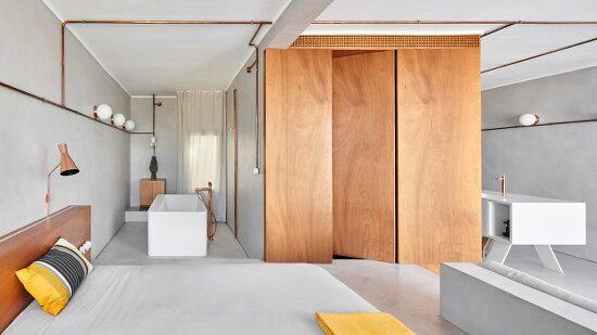 *목조를 이용한 볼륨감과 구리파이프로 미학을 가미한 아파트 개조-[ Cometa Architects ] Barcelona apartment
