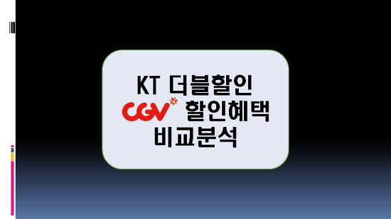 2018년 KT더블할인 CGV 영화요금 할인 분석