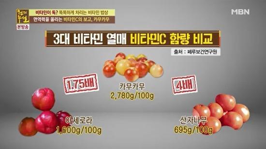 카무카무-면역력 올리는 비타민C!