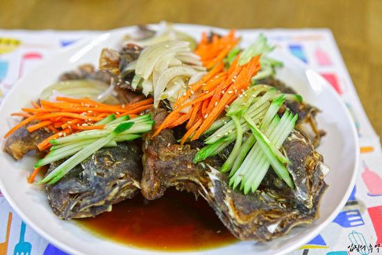 냉동실 처치곤란 생선으로 만든 생선 탕수(쏨뱅이 튀김 탕수)