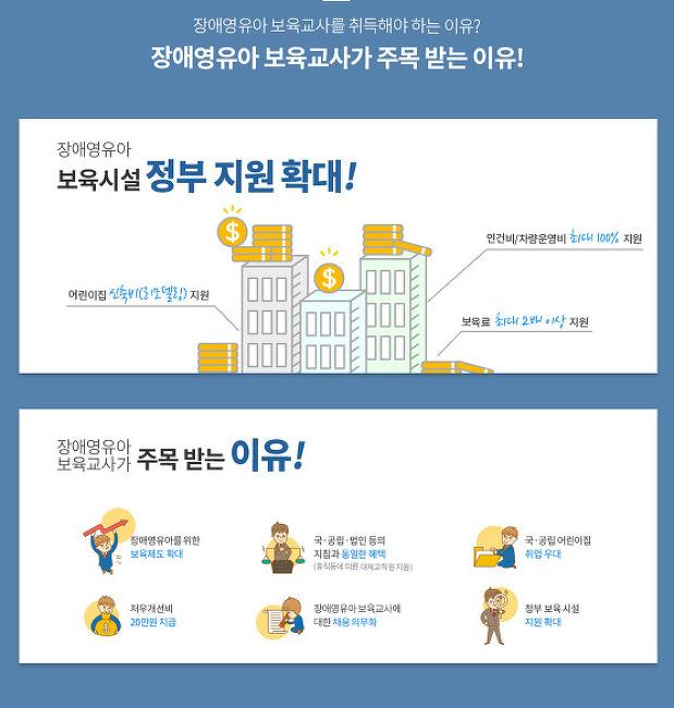 나눔평생교육원 장애영유아보육교사 온라인 신청 안내