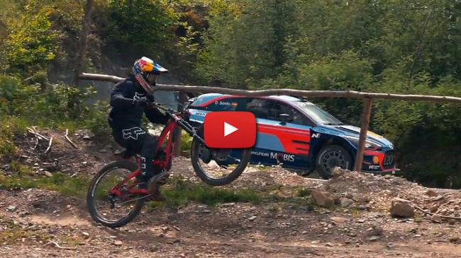 [MOVIE] 현대 i20 WRC vs MTB 바이크의 다운힐 대결