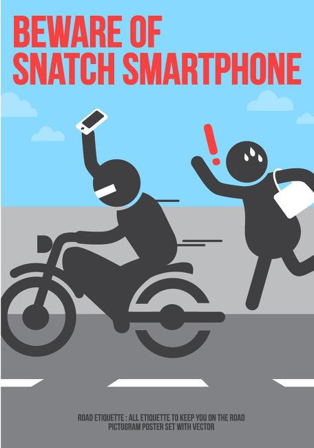 (강동) 오토바이 날치기 예방 및 대처 요령