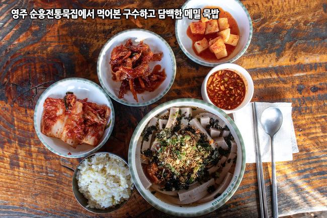 영주 맛집, 구수하면서도 담백한 메밀묵밥이 맛있는 순흥전통묵집
