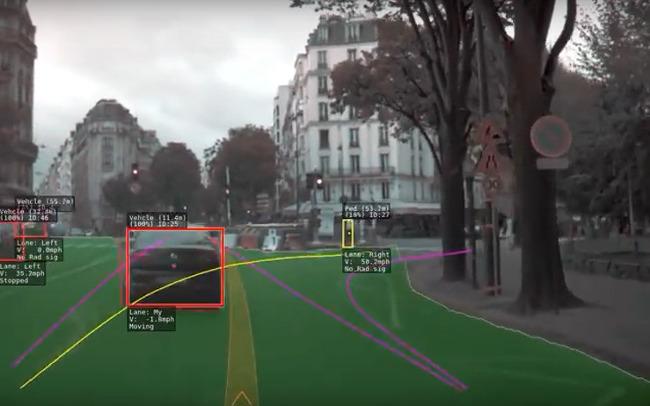 테슬라 오토파일럿의 눈으로 본 파리 시내