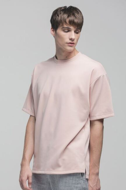 니티드 레이온 에센셜 티셔츠