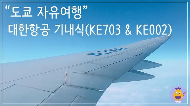 [도쿄여행] 대한항공 KE703 & KE002 기내식!