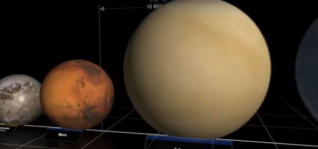 [APOD] 천체 크기 비교 2(2018.6.12.)